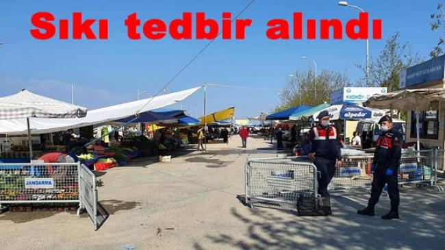 Esenköy pazarına sıkı denetim